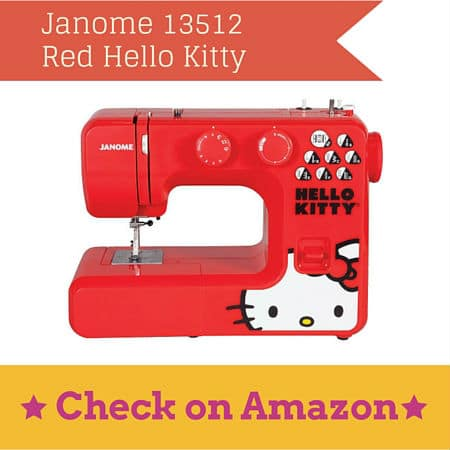 Janome 13512 Red Hello Kitty