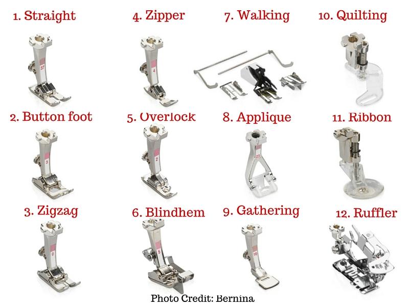 Presser Feet Types