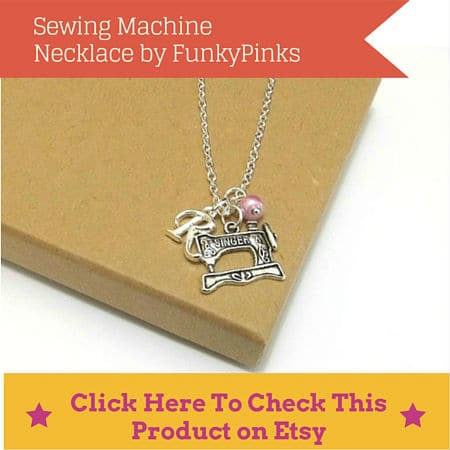 singer sewing machine necklace