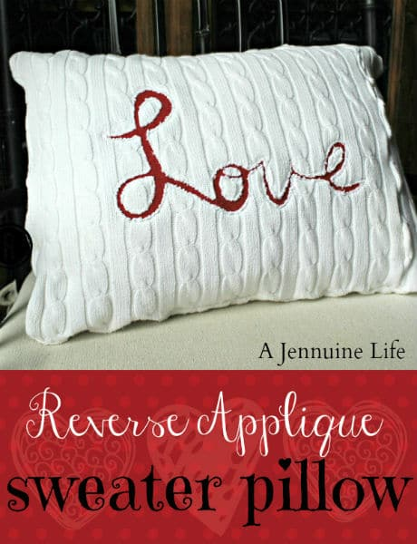 Love Applique Pillow