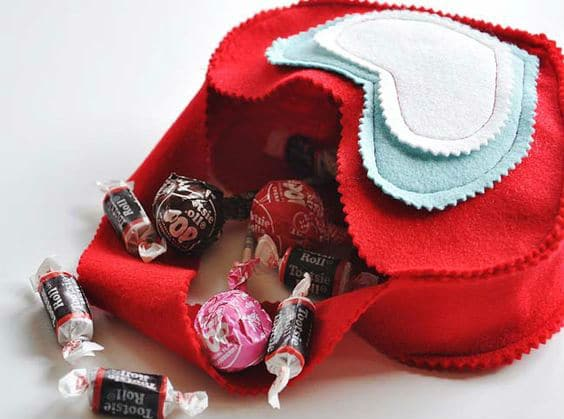 diy heart bag