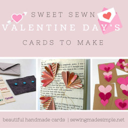 Send Out Something Sweet With These Sewn Valentine Day's Cards