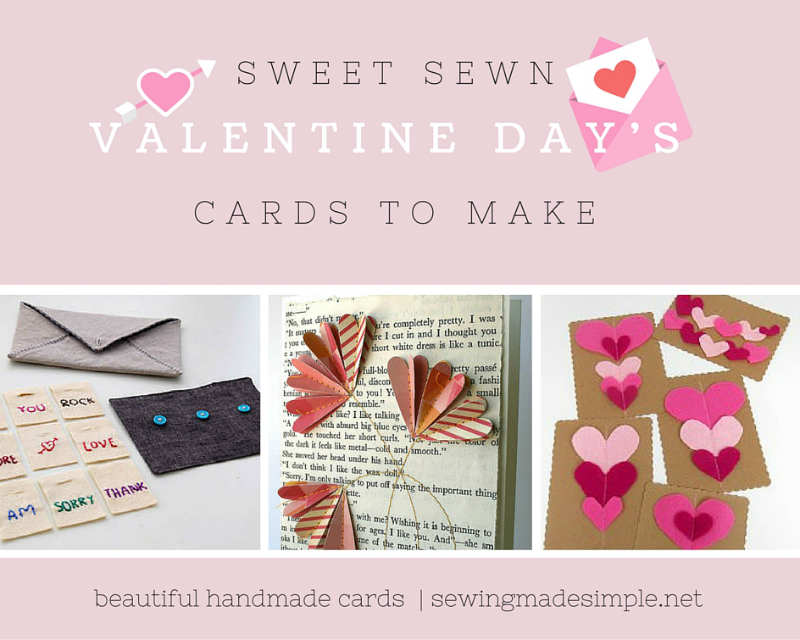 sewn cards for valentines