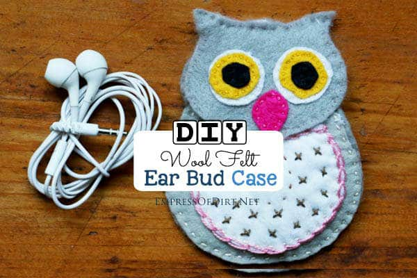 wool felt earphone case