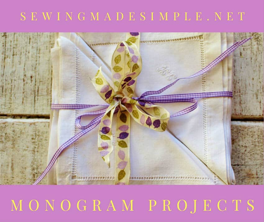 monogram sewing projects
